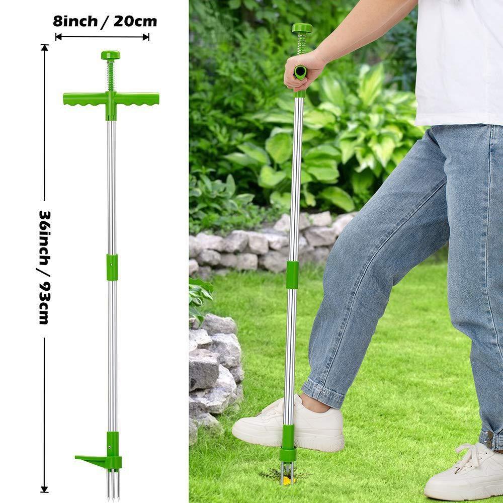 618 Sale Long Handle Weed Remover Durable Garden Lawn Weeder Outdoor Yard Grass Root Puller Tools Garden Planting Elements