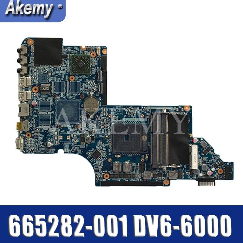 665282-001 pour For HP DV6 DV6-6000 Ordinateur Portable carte mère 100% Testé et garanti en bonne condition de travail!!