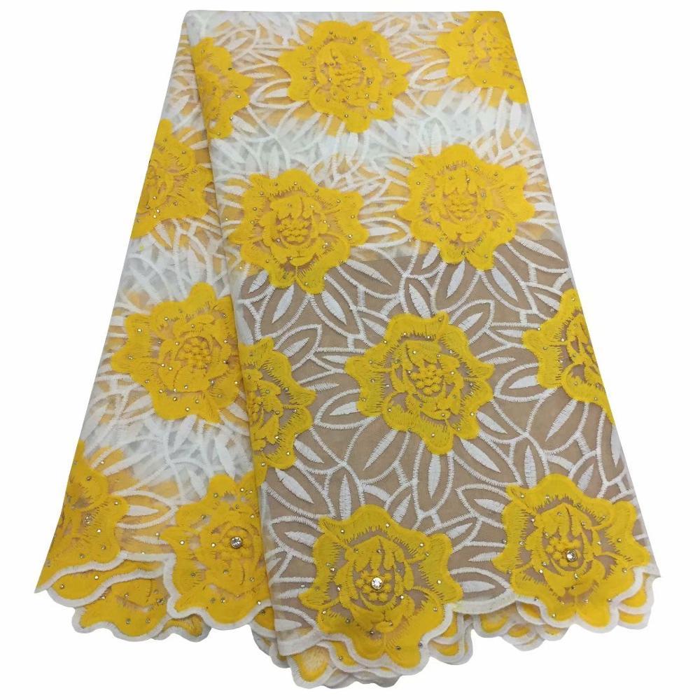 De clase alta de traje de noche material francés bordado flor encaje neto de tela para coser KN116 (5 yardas/lote)