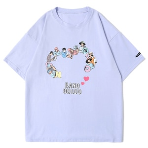 LACIBLE Casual T-Shirts Men Women Harajuku Streetwear Cartoon Human Heart Print T shirts Oversize Couples Lovers T Shirts Unisex