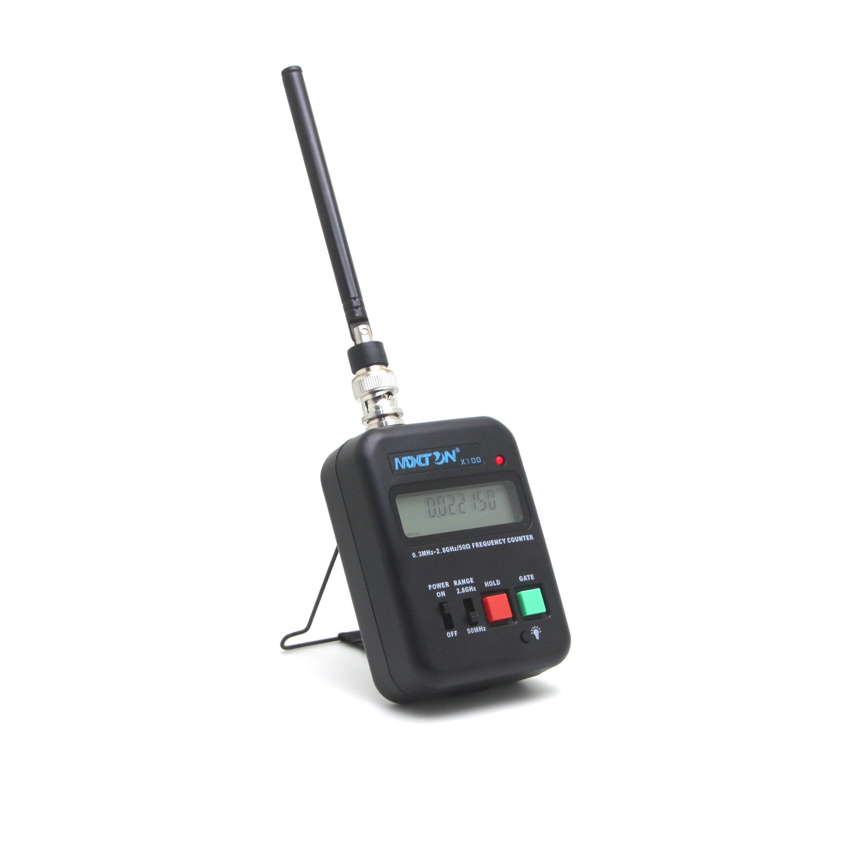 X100 لتردد عداد التردد اللاسلكي اتجاهين 0.3MHz إلى 2.8GHz. شاشة الكريستال السائل في خط كبير. أكثر من 12 ساعة