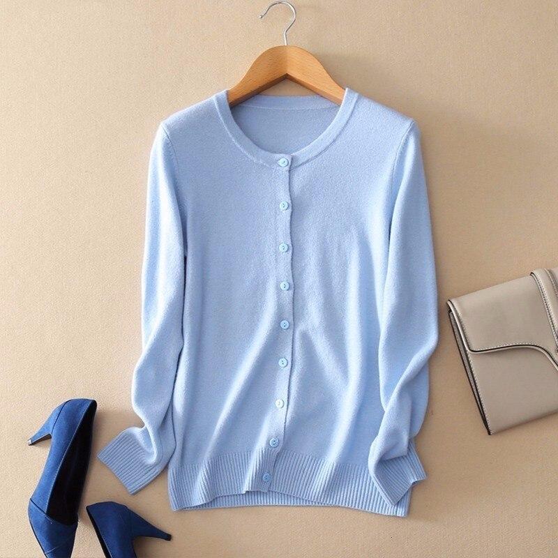 Suéter de cachemira tejido de mujer abrigo de ganchillo Jersey femenino Hiver Jersey Casual Streetwear cárdigans de un solo pecho