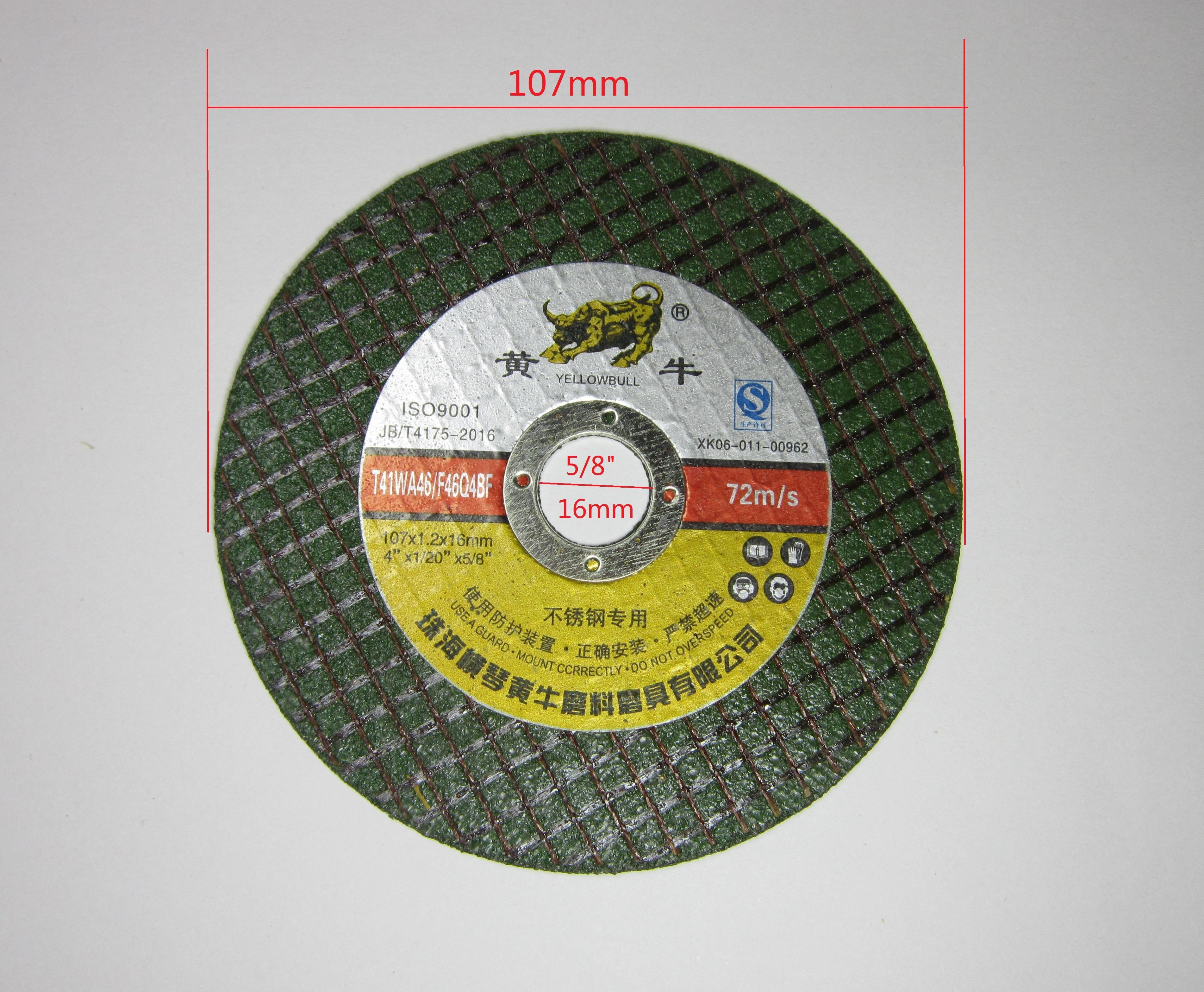 Metal Stainless steel Cutting Discs Cut Off  Wheels Ø 107mm resin Fiber Reinforced Sanding Grinding wheel Electric Angle Grinder
