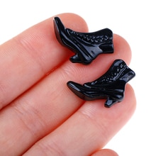 1 Pair Female High Heel Shoes Platform Court Shoes Gift For Girls Action Figure Toy Body Accessories