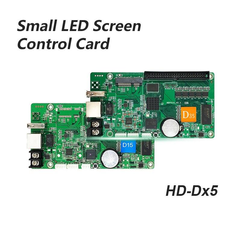 Huidu HD-D15 HD-D35 كامل اللون صغيرة شاشة led بطاقة التحكم الباب شاشة سيارة شاشة الشاشة لافتة