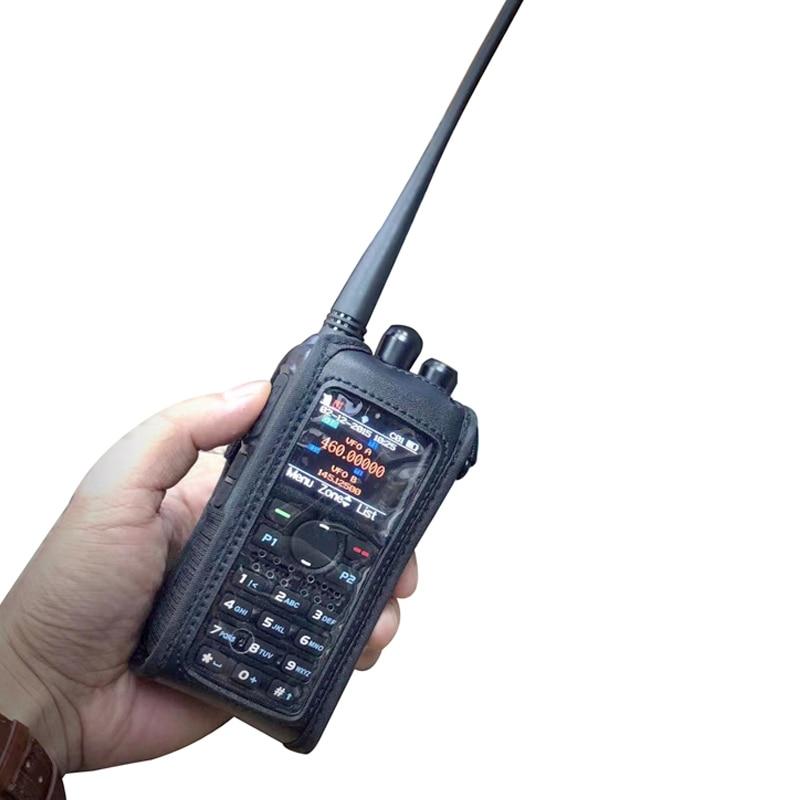 Funda de cuero suave para walkie talkie anytona AT-D878UV Plus Ham radio