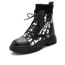 Vrouwen Sneeuw Korte Laarzen Warme Vrouwelijke Lady Casual Sport Sokken Schoenen Antislip Verhogen Hoogte Slim Martin Laarzen