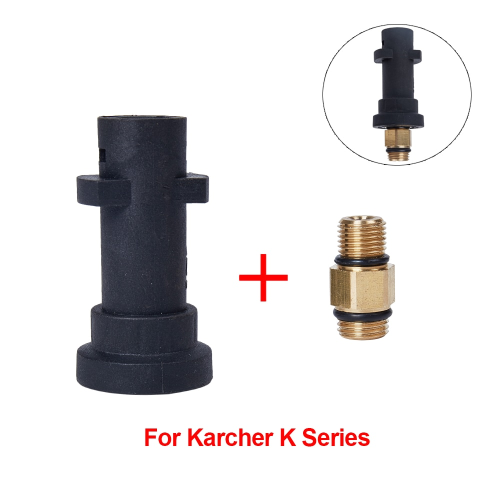 Adaptador para arandela de alta presión para Karcher Serie K para lanza de espuma para nieve/generador de espuma/pistola de espuma para conexión de arandela de coche