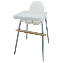 Reposapies de Bebe Fußstütze Baby Natürliche Bambus Baby Hochstuhl Fuß Rest Hohe Stuhl Fußstütze mit Gummi Ringe