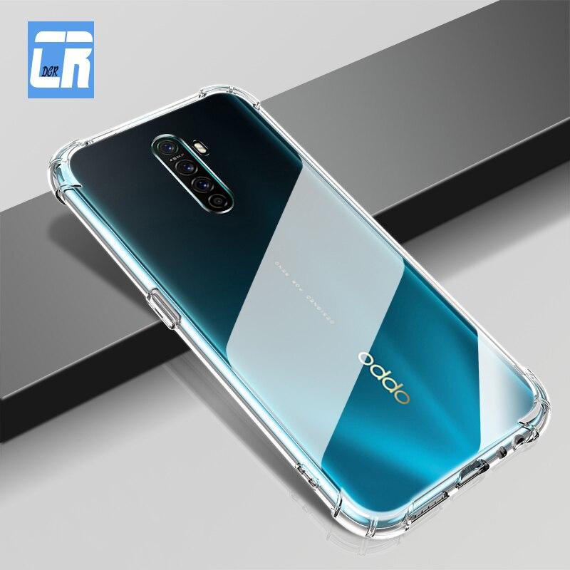 Caso transparente para oppo reno 2z ace a9 a5 2020 r17 r15 a72 à prova de choque airbag caso para oppo realme 6 x xt 5 3 x2 pro caso de telefone