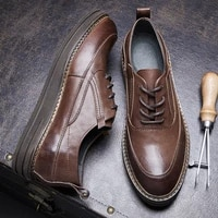 autumn winter all match cowhide casual shoes mens high quality genuine leather mens business men shoes men dress shoes