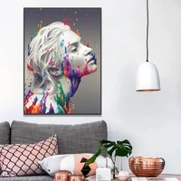sexy woman colorful canvas painting wall art watercolor portrait canvas poster for living room nordic home decorate mural