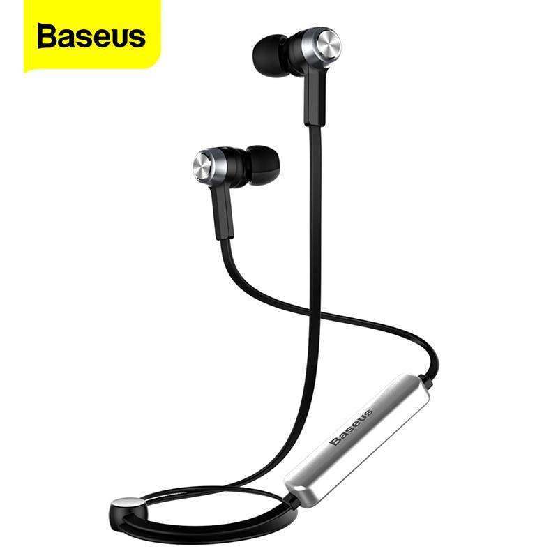 Baseus магнитные беспроводные bluetooth-наушники для iPhone X 8 7 samsung, Спортивная беспроводная гарнитура с микрофоном, стерео наушники