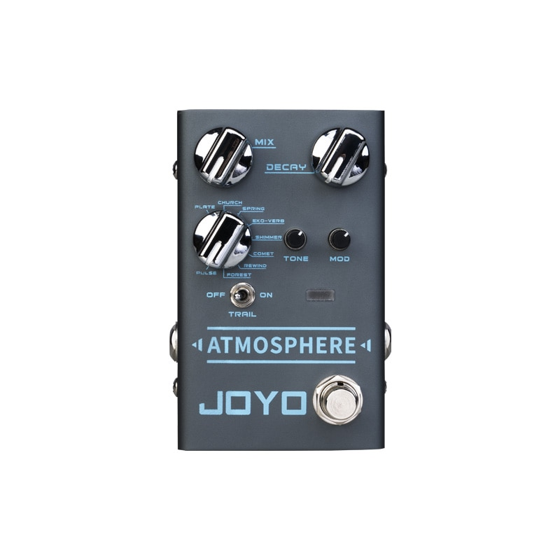 JOYO R-14 ATMOSPHERE Reverb Guitar Pedal SPRING/CHURCH/PLATE/EKO-VERB/SHIMMER/COMET/REWIND/FOREST/PULSE 9 Digital Reverb Effec enlarge