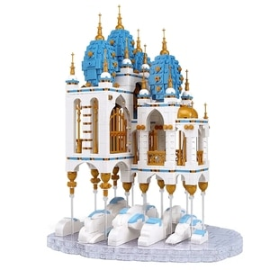 Sky Castle Drifting city Street View Technology Series 2660PCS Children's small particle assembly toy building blocks