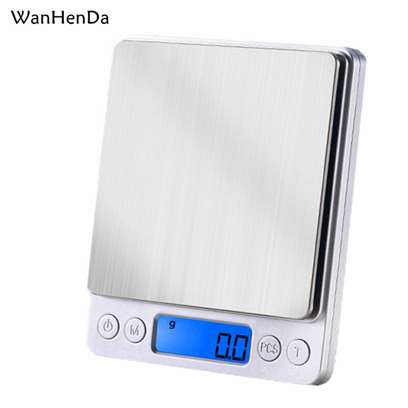 3000g/0,1g Elektronische digital display skala Plattform waage 500g/0,1g Schmuck gram waagen Präzision skala LCD mini Küche Skala