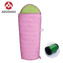AEGISMAX KID 400 Camping en plein air enfant printemps automne garder au chaud blanc duvet doie sac de couchage