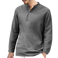 attractive shirt durable long sleeve excellent workmanship breathable polyester eye catching v neck men shirt for holiday