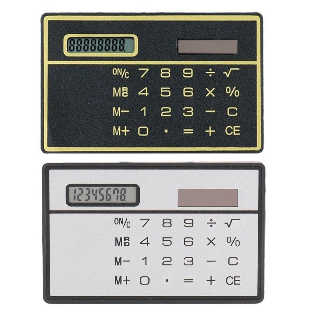 portable solar powered calculator screen 12 digit large lcd display for office daily use lhb99 8 Digit Ultra Thin Solar Power Calculator with Touch Screen Credit Card Design Mini Portable Calculator for Business School