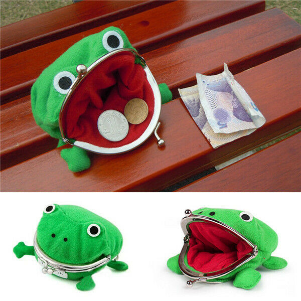 1PC Frog Coin Purses Cartoon Wallet Pouch Anime Manga Shape Fluff Clutch Cosplay Cute Wallet purse Coin Holder Girls Gift japanese style girls coin purse cute cartoon totoro mini coin wallet soft silica gel zipper hand purses for ladies clutch bags