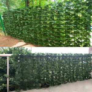 Расширяющийся шпалер забор выдвижной забор искусственный садовый ограда из растений 0.5X 1 м/0.5X3m для садового забора задний двор Прямая поста...