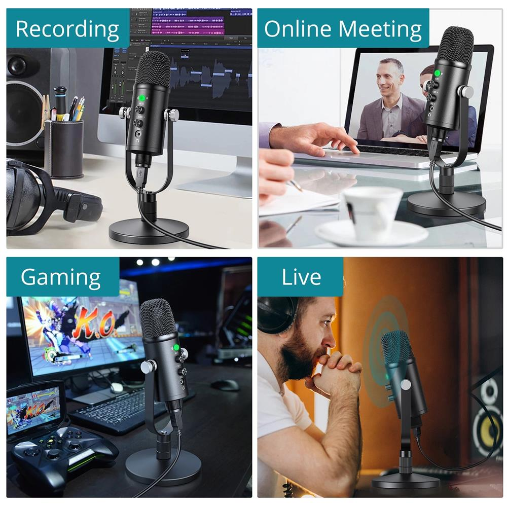 USB Condenser Microphone Professional Home Studio Recording Microfone For Laptop Karaoke Microfono For Twitch Gaming Streaming enlarge