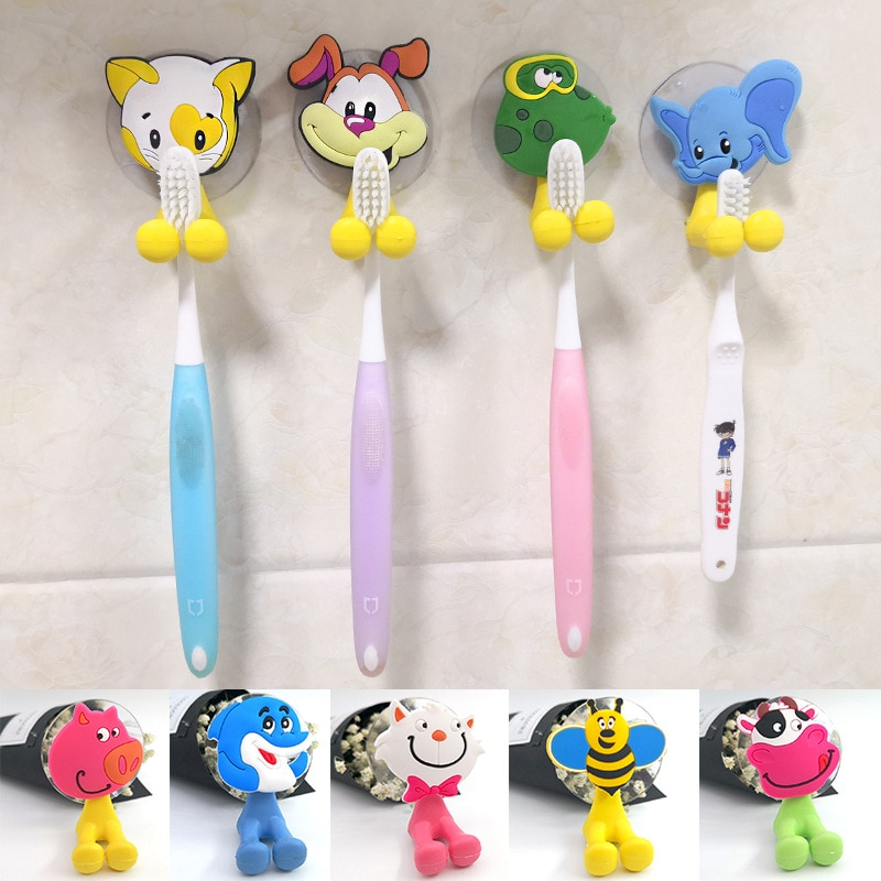 1PC Wall Mounted Suction Cup Antibacterial Hooks Set Toothpaste Holder Toothbrush Bathroom Accessories
