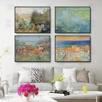 water lilies by monet posters and print vintage landscape canvas painting bedroom decoration wall art pictures for living room
