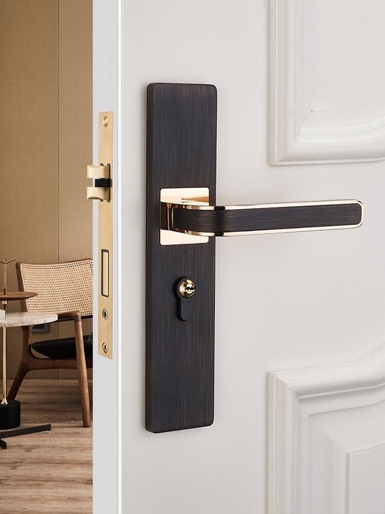 السرير قفل باب الغرفة المنزلية العامة كتم قفل باب الغرفة السوداء مقبض المرحاض قفل