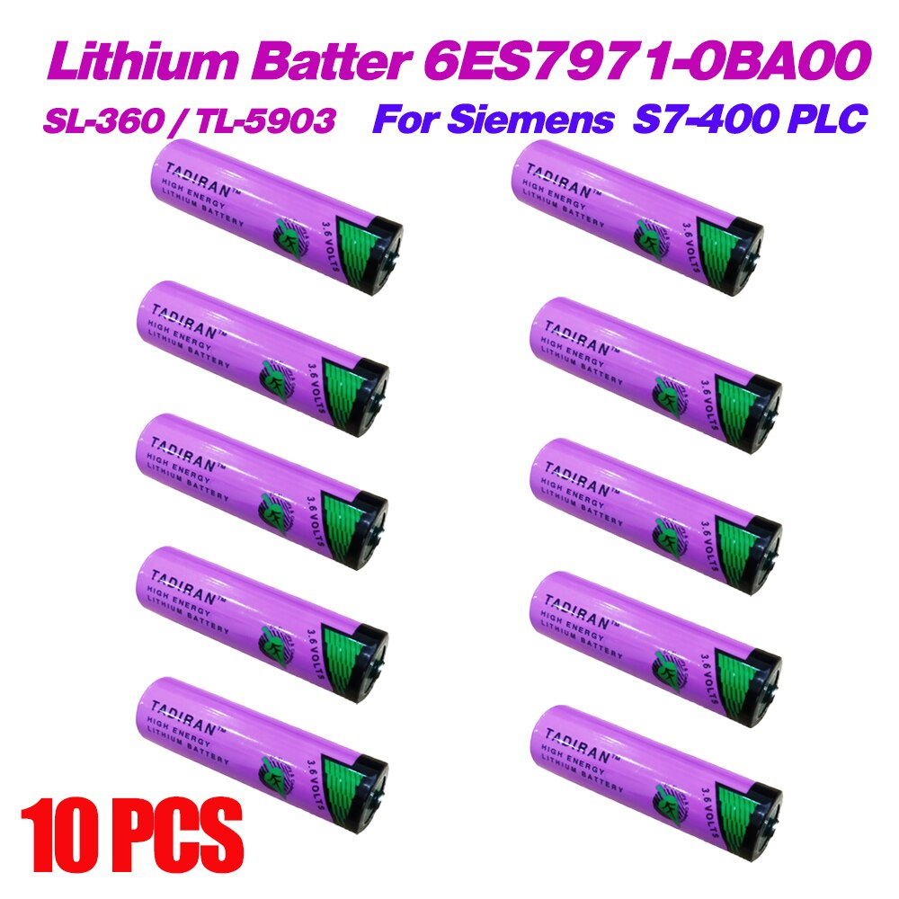 10x SL-360 TADIRAN batteries 3,6 V AA batería para 6ES7971-0BA00 Siemens S7-400 PLC TL-5903 SL-560 TL-5903 ER14500 14505