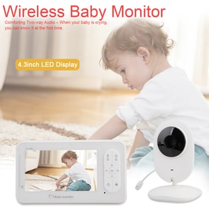 4.3 inch Wireless 2.4G HD LCD Digital Baby Monitor Nanny Babysitter Camera Audio Night Vision Monitoring Temperature Detection