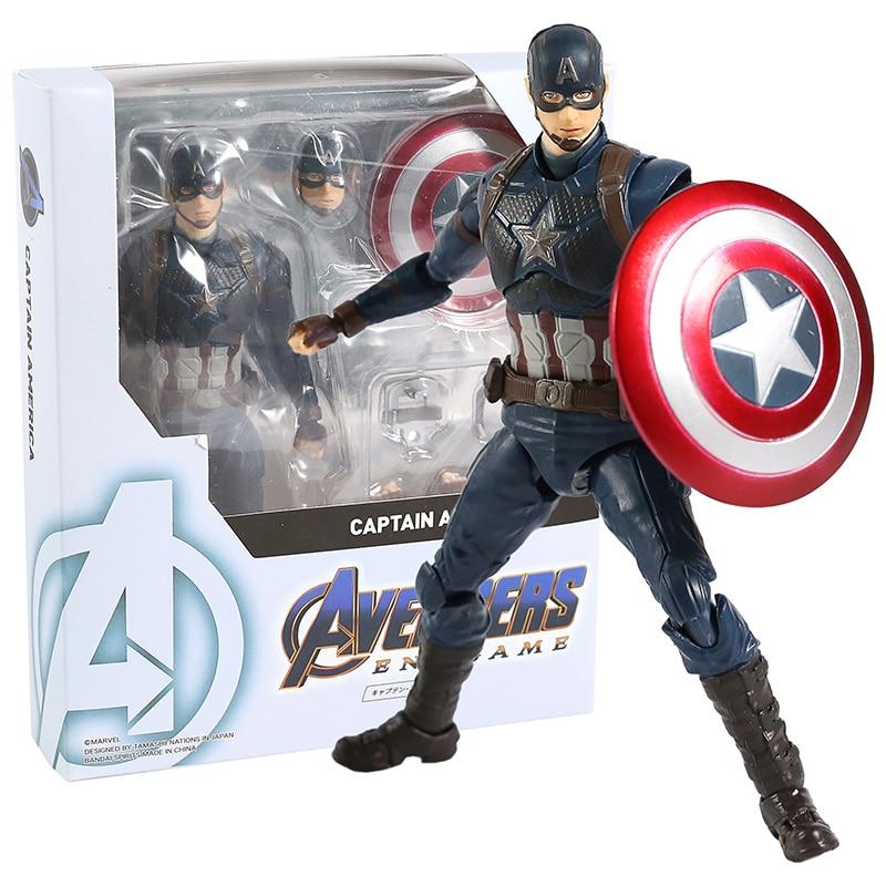 SHF Avengers Endgame Captain America PVC Action Figure Collectible Model Toy
