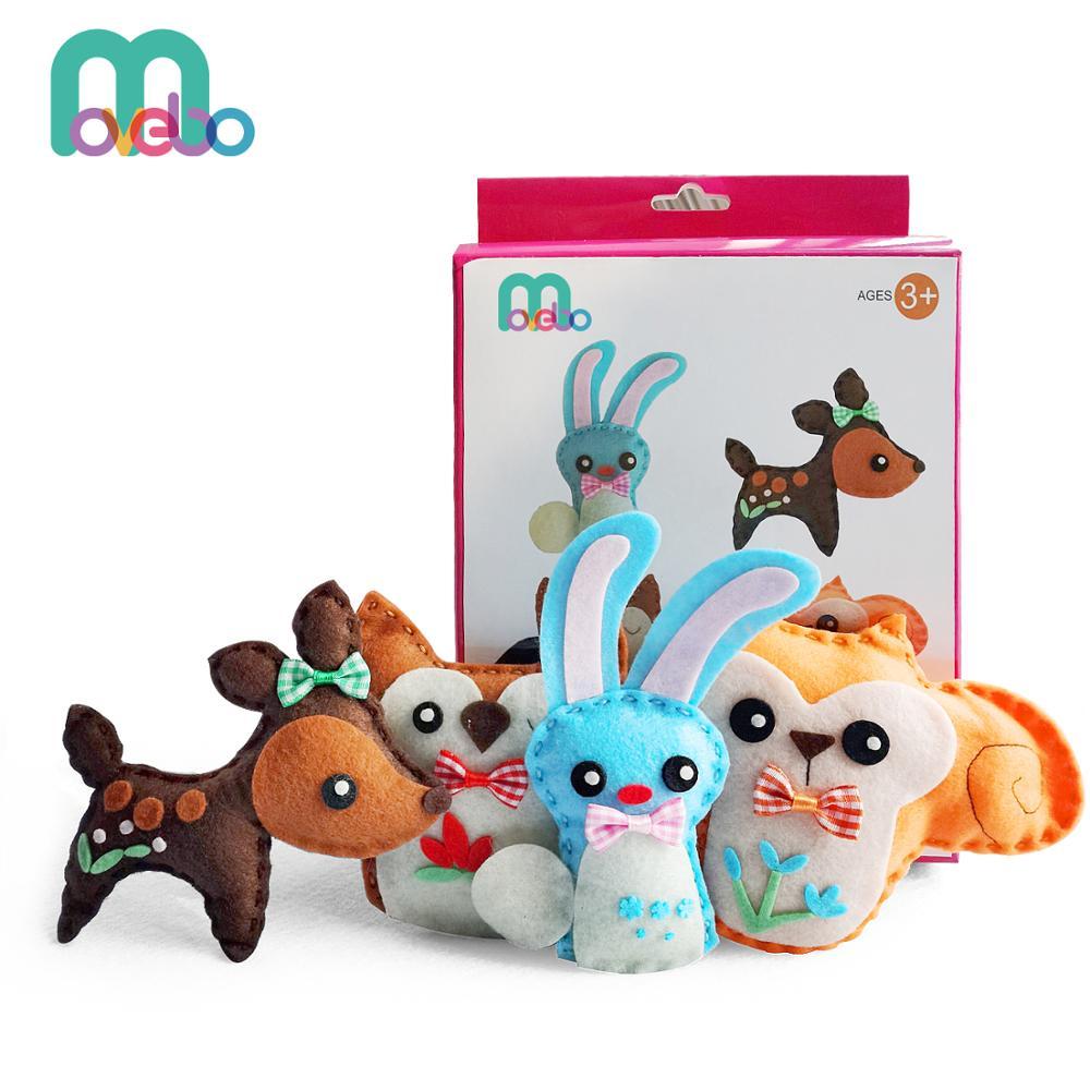 Детский швейный набор и животные, забавные Наборы для творчества, Наборы для творчества и шитья для девочек и мальчиков недорого