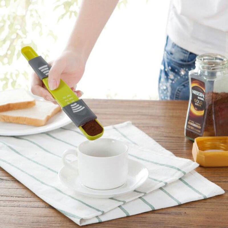 Accesorios para hornear en la cocina, cuchara medidora de plástico, cuchara medidora de leche en polvo para hornear, cuchara cuantitativa, Gadget de cocina, utensilios de medición