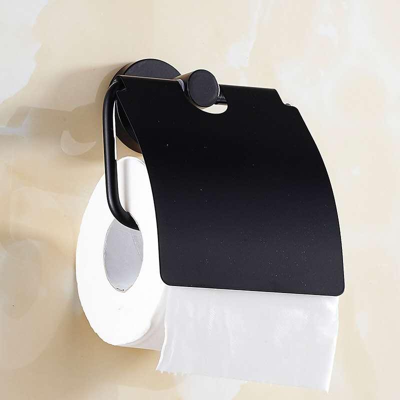 Полка для туалетной бумаги из нержавеющей стали, настенный висячий контейнер, полка, черный рулон для салфеток, держатель для дома, ванная комната
