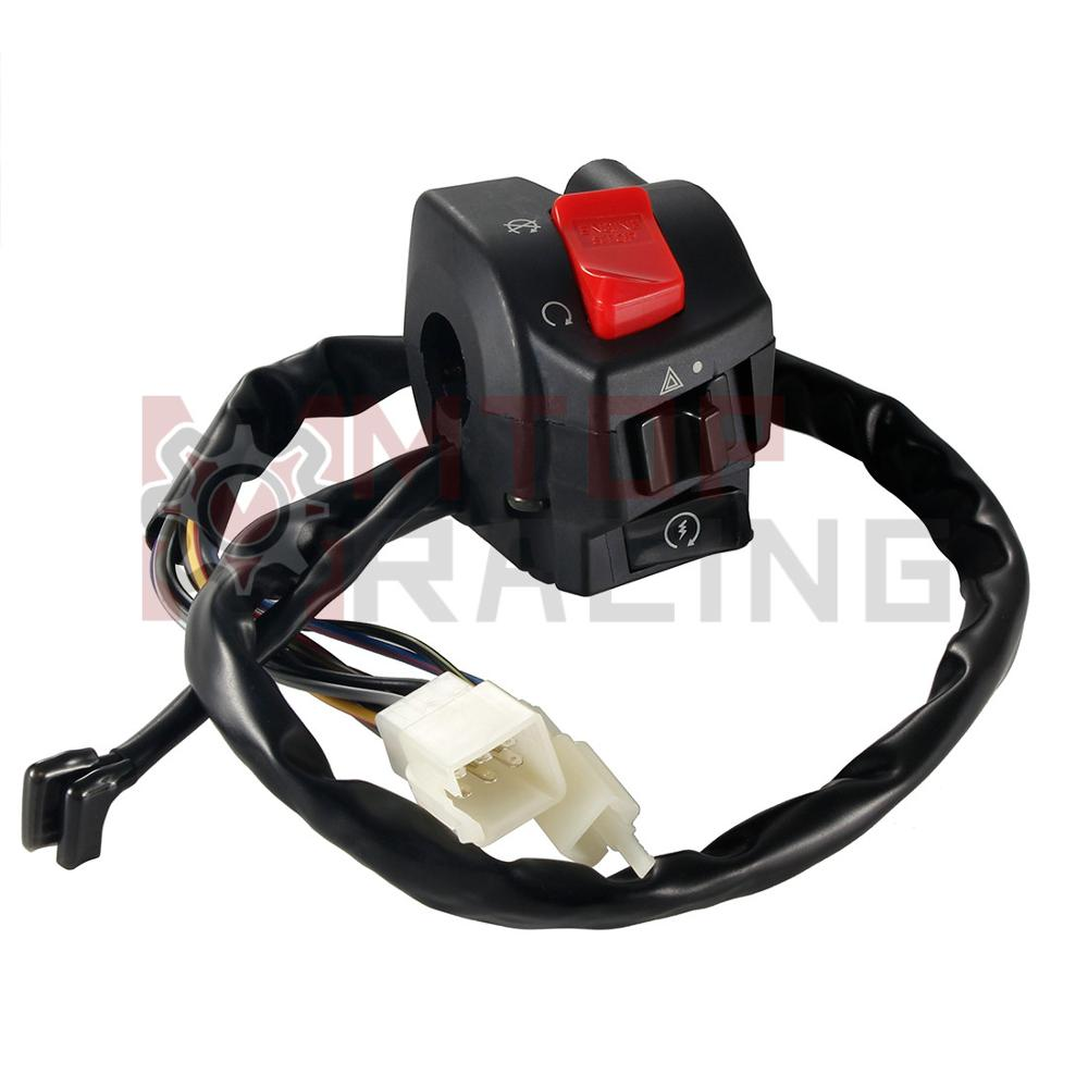 RHS مفتاح كتلة كابل بدء تشغيل إيقاف التحكم لهوندا CBR600RR 2003 2004 2005 اليابان 35130-MEE-J01