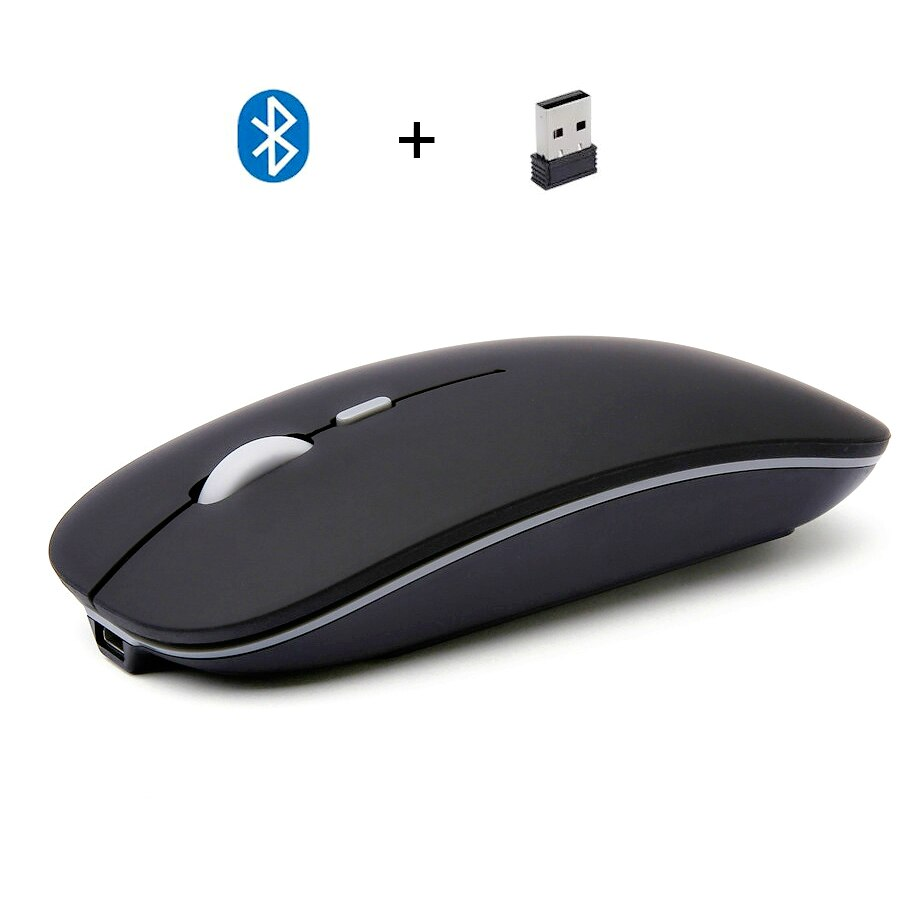 Novedad de 2020, ratón Delgado inalámbrico con Bluetooth 4,0 + de doble modo, Mini ordenador portátil, ratón Usb, accesorios de ordenador de escritorio