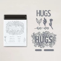 clear stamps and cutting dies hug from all of us thinking of you for diy scrapbook photo album craft card 2021new