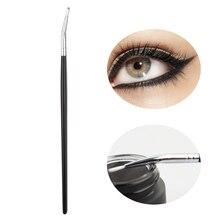 Professionnel maquillage cosmétique pinceau pour les yeux fard à paupières sourcils outil lèvres Eyeliner pinceaux mode Eyeliner brosse 2019