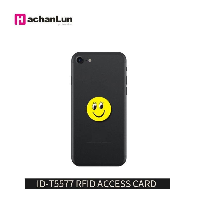 5 unids/lote RFID 125Khz T5577 escritura EM4305 contra interferencia de dibujos animados pegatinas etiquetas de tarjeta de proximidad de la etiqueta RFID Copiadora