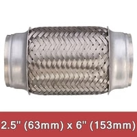 63153mm stainless steel car exhaust pipe double braided flex connector piping