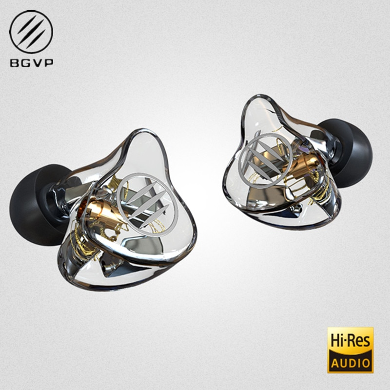 BGVP DM7 6BA controlador de Monitor auricular en la oreja Cancelación de ruido Mmcx auriculares con cable auriculares estéreo de música