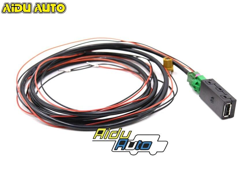 AIDUATO для VW CarPlay MDI MIB 2 DIS PRO блок радио USB AMI установка розетка переключатель жгут