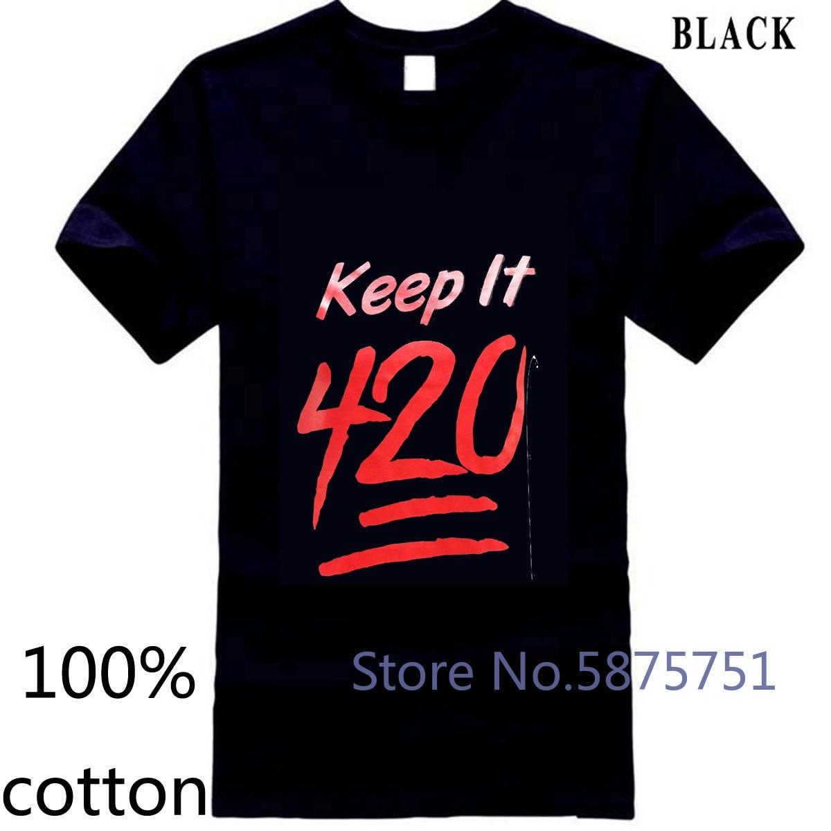 Halten Es 420 Topf Unkraut Stoner Männer der Neuesten Männer für Männer Stil Männer Lastest männer t shirt t-shirt tops tees 100% baumwolle
