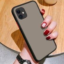 Роскошный Матовый чехол для iPhone 12 11 Pro Max X XS 7 8 плюс SE2 мобильный телефон чехол накладка из мягкого силикона + жесткий пластиковый корпус черного и красного цвета