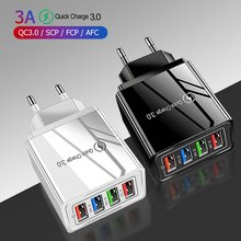 4 USB 3A Mobile Phone Charger Fast Charging Portable Wall Mobile Charger Flame Retardant Drop Resist