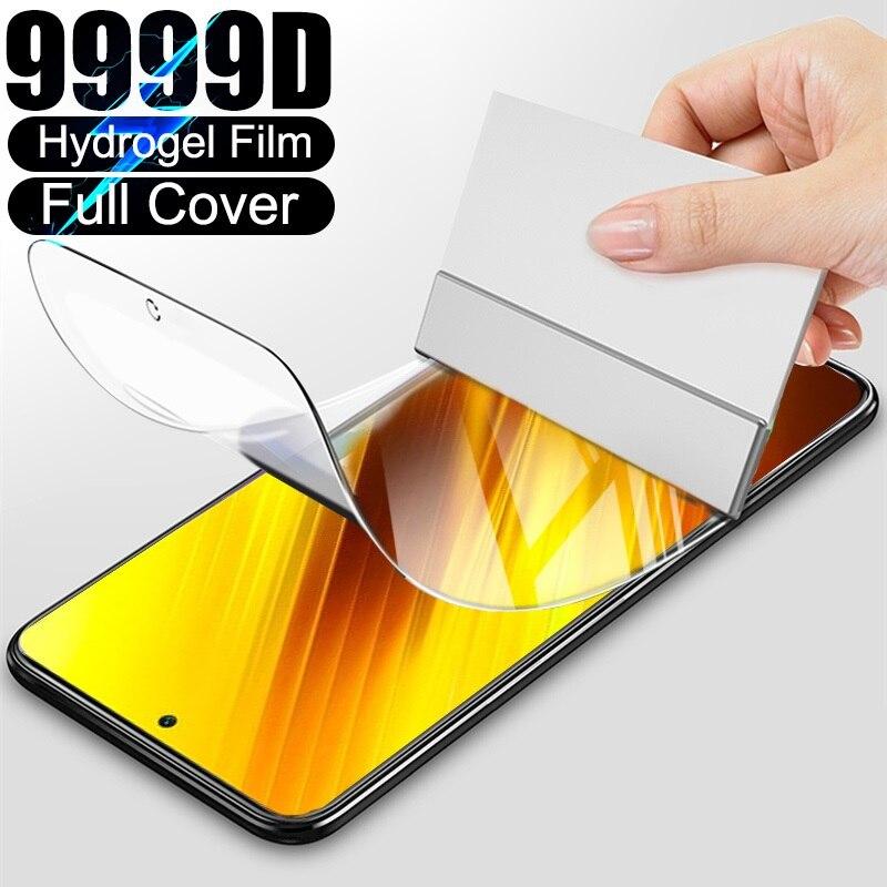 Full Cover Hydrogel Film For Xiaomi Redmi Note 7 9s 5 8 Pro 8T 9 Pro Max Screen Protector Case For R
