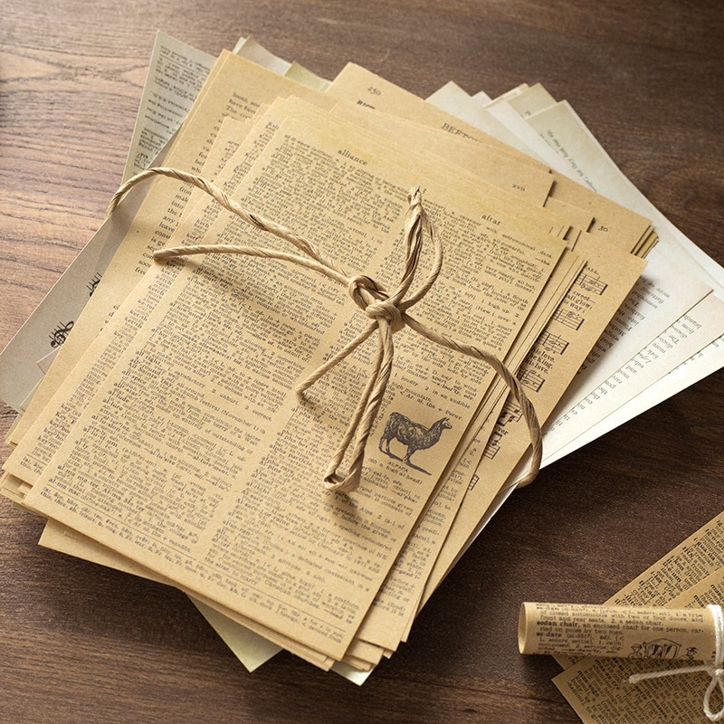 57Pcs/lot Vintage Old Book Page Scrapbooking Paper Junk Journal Material Background Paper Planner DIY Diary Album Craft Paper page two–year college mathematics readings paper only