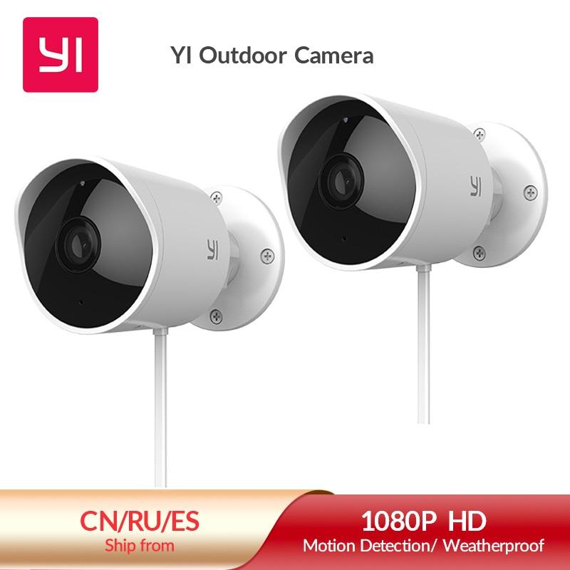 YI Outdoor Camera surveillance camera IP-65 Water-Resistant Housing Cam Night Vision Human Detection Security Camera