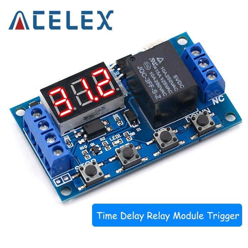 1 канал 5 В релейный модуль время задержки релейный модуль, триггер выкл/вкл переключатель цикл синхронизации 999 минут